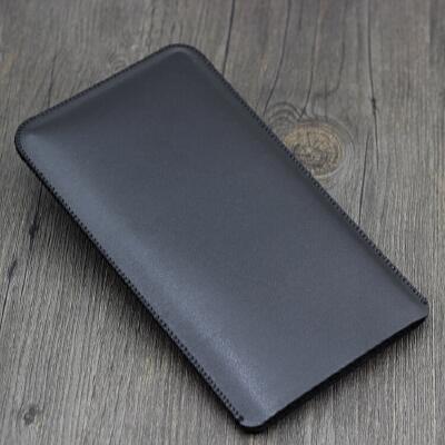 华为手机壳保护套7.12英寸直插皮套荣耀8X Max全包 防摔包 裸机版 黑色
