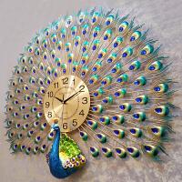【支持礼品卡】钟表挂钟客厅个性创意时尚孔雀挂表现代简约大气时钟家用石英钟圆4ts