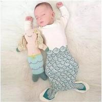 夏天男女童婴儿睡袋宝宝美人鱼分腿睡袋夏季薄款儿童新生儿防踢被