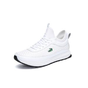 卡帝乐鳄鱼男士运动休闲鞋男鞋春季网布透气网鞋夏季网面跑步鞋子