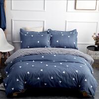 ???水洗棉床上用品床单被套四件套学生宿舍1.2米床三件套1.8m/1.5床 1.2m (4英尺) 三件套