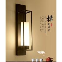 家亮新中式壁灯床头铁艺灯现代简约创意仿古过道壁灯中国风镜前灯MB12