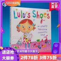 英文原版 Lulu's Shoes 露露的鞋子 精装操作书 精装故事图画 Lulus系列 幼儿启蒙认知绘本