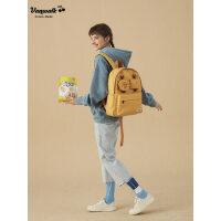 VANWALK双肩包女纯色高中学生书包韩版校园背包休闲出走旅行包