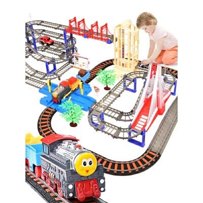 托马斯小火车套装轨道车玩具男孩电动可充电汽车3-10岁儿童玩具 伦敦高架桥 四层声光升降梯
