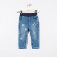 【1件3折到手价:53.7】moomoo童装2019新款春女幼童牛仔长裤