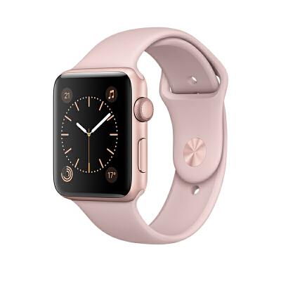 【当当自营】Apple Watch Series 1 智能手表(42毫米玫瑰金色铝金属表壳 粉砂色运动型表带 防水溅 蓝牙 MQ112CH/A)可使用礼品卡支付 国行正品 全国联保