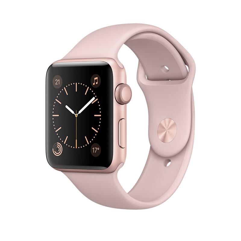 Apple Watch Series 1 智能手表(42毫米玫瑰金色铝金属表壳 粉砂色运动型表带 防水溅 蓝牙 MQ112CH/A)可使用礼品卡支付 国行正品 全国联保