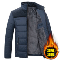 中年男士棉衣加绒加厚冬季男装棉袄40中老年50岁爸爸冬装外套