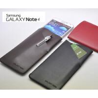 轻薄 三星 Galaxy Note4 皮套 手机套 保护套 可放交通卡 内胆包