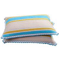 花边枕套一对装加厚老粗布大号枕头套四季单人信封式