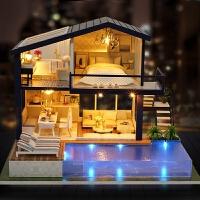 智趣屋diy小屋手工创意楼阁女孩玩具拼装房子模型大别墅生日礼物