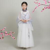 中国风古装改良旗袍复古女童公主裙子主持人礼服小女孩古筝演出服