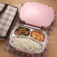 韩式304不锈钢分格保温饭盒儿童带盖便当盒学生成人食堂餐盘餐盒