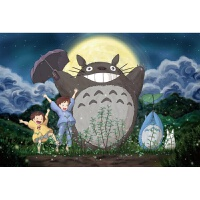木质拼图300/500/1000片减压儿童玩具宫崎骏动漫龙猫
