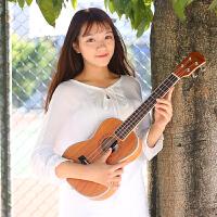2018新款 尤克里里23寸乌克丽丽四弦小吉他女男学生初学者ukulele 26寸 全桃花心木
