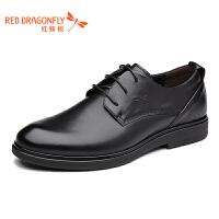 红蜻蜓商务男鞋秋季休闲真皮商务正装皮鞋英伦男士皮鞋子断码清仓