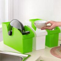 塑料收纳盒橱柜杂物整理箱无盖盒子创意厨房餐具收纳储物盒整理盒