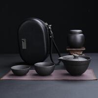 旅行快客杯一壶二杯家用简约泡茶壶套装小罐茶陶瓷功夫茶具便携包