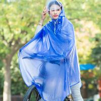 自行车雨衣头盔式雨披男女式电动车单人雨衣户外骑行学生雨衣 XXL