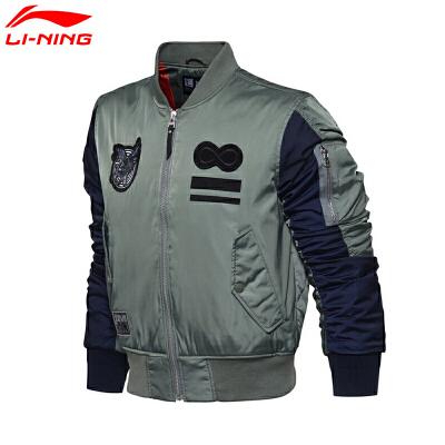 李宁男子冬季LNG系列时尚运动休闲保暖短棉服外套男款LJMM001