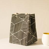 大号码学生午餐盒包防水手提包拎饭盒包袋保温帆布便当包