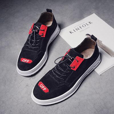 男鞋休闲鞋子男士皮鞋韩版潮流英伦百搭板鞋潮鞋2018新款秋季