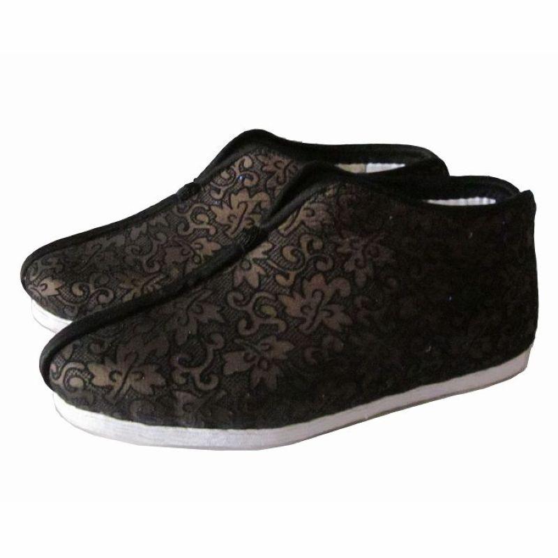 咖啡色纯手工千层底棉鞋加绒妈妈休闲布底冬季保暖棉鞋女鞋srr