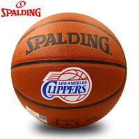 清仓特价SPALDING/斯伯丁篮球保罗签名队徽室内室外耐磨球74-642Y