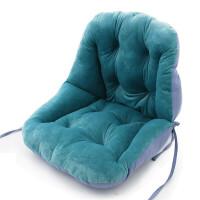 连体坐垫靠垫背一体办公室护腰座垫家用椅子学生宿舍电脑椅垫加厚 42x48x48cm