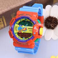 三达表新款果冻时尚多功能双显冷光电子防水户外防震运动男女手表