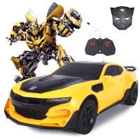 遥控汽车兰博基尼大黄蜂变形遥控车模型 电动玩具车 儿童玩具生日礼物