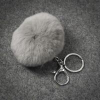 韩国时尚背包书包挂件毛绒球汽车钥匙扣挂饰钥匙链女生小礼物礼品