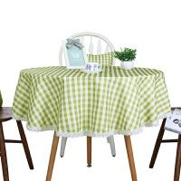 圆形台布餐桌布布艺椅垫椅套套装大圆桌桌布防水家用正方形