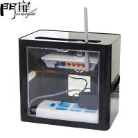 门扉 电线收纳盒 家居路由器机顶盒无线网线数据线电源插座置物架收纳盒电线理线器