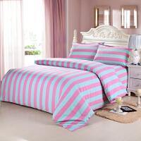 棉老粗布四件套棉加厚床上用品床单被套四件套 透明 水墨青花