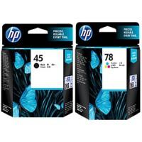 惠普原装 hp 45 78 打印机一体机墨盒 HP51645A 黑色墨盒 HP6578D 彩色墨盒 适用 710/72