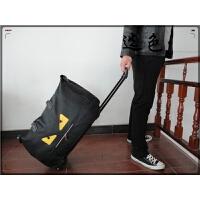 手提拉杆包旅行包女大容量男旅游行李包袋登机软箱24寸 黑色+黄 ls拉杆包 大