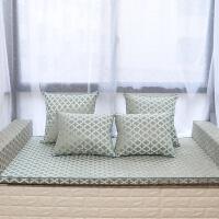中式榻榻米地垫椰棕定制拆洗床垫飘窗坐垫雪尼尔棕坐垫实木沙发垫