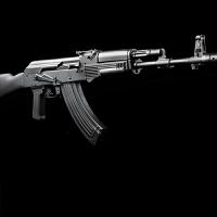 户外玩具下供弹AK47玩具枪电动连发单发男孩游戏