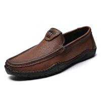 牛皮男鞋中年秋季男士皮鞋真皮商务休闲鞋软底中老年爸爸鞋子