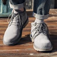 2017秋冬新款马丁靴男靴子军靴英伦中帮工装雪地男士沙漠靴冬季男鞋短靴潮JQSL-71419