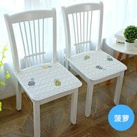 纯棉四季坐垫椅垫椅子垫餐椅垫学生椅子坐垫薄办公室汽车座垫防滑