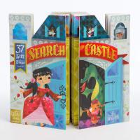 现货 英文原版 儿童绘本 Search the Castle 精装 纸板书 翻翻书 双页场景幼儿英语启蒙图画书 Chro
