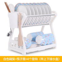收纳架双层碗碟架厨房置物架厨房用品用具沥水碗架碗柜碗筷盒