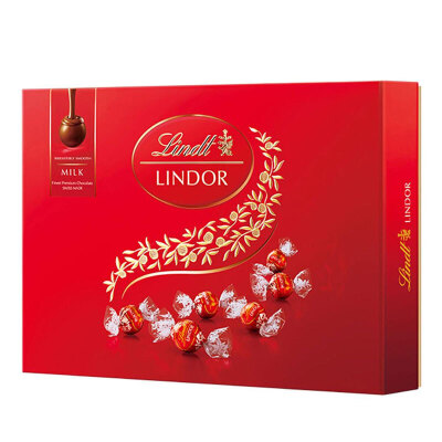 【礼盒特惠】瑞士莲LINDT软心 - 牛奶巧克力礼盒168g(瑞士进口 盒)