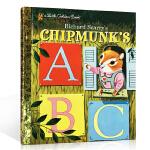 英文原版 Chipmunk's ABC 花栗鼠的ABC Richard Scarry's 斯凯瑞金色童书 3-6岁低幼