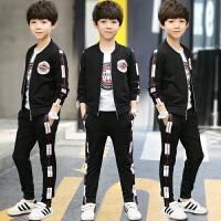 儿童装男童套装春秋新款三件套男孩运动休闲中大童韩版潮