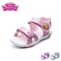迪士尼Disney童鞋2018新款儿童凉鞋时尚亮彩公主鞋女童沙滩鞋(5-10岁可选) DS2757