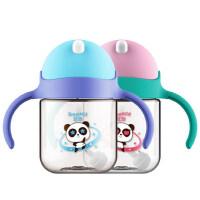 儿童水杯幼儿园宝宝学饮杯带重力球婴儿吸管杯